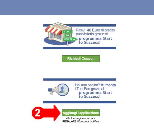 Facebook advertising coupon generator